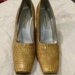 Gold Bellini block heels